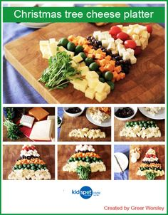 Christmas Tree Cheese Platter Recipe - Party food