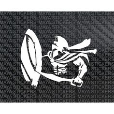 Spartan warrior with sword vinyl decal sticker for cars, bikes, laptop