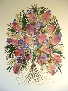Pressed Flower Art – Spring Tulips » Kerstin Stinson - Artistry in Flowers