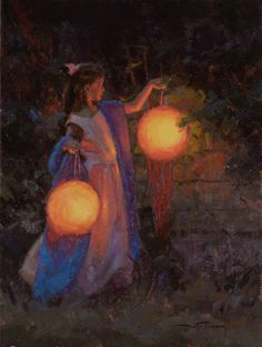 Her Lantern  Warren Neary  16x12  Oil  2008