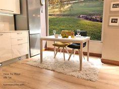24 best Mesa cocina estilo nordico en madera y blanco fijas o ...