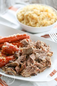 Pressure Cooker Pork and Kraut {For New Year's Good Luck!} - Health Starts in the Kitchen