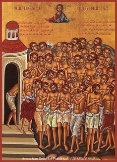 The Forty Martyrs of Sebaste or the Holy Forty were a group of Roman soldiers in the Legio XII Fulminata whose martyrdom in 320 for the Christian faith is recounted in traditional martyrologies. Christ In Greek, Christian Soldiers, Art Through The Ages, Roman Soldiers, Day Book, Orthodox Icons, Religious Art, Catholic, Faith