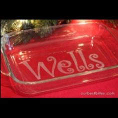 Wedding gift? Have the couples last name etched into the glass.