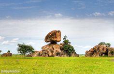Rock formation that looks like the Sphinx, Blue Nile State  تكوين صخري بشبه أبو الهول، ولاية النيل الأزرق  (By Volodymyr Gerasymenko)   #sudan #sphinx #baw #rivernile