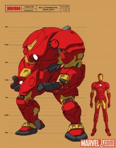 A very cool rendering of Iron Man's Hulkbuster suit.