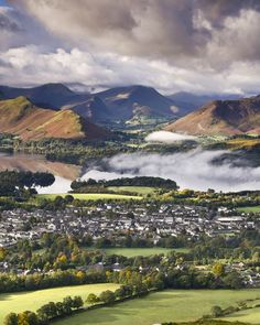 Keswick, England in the Catbells