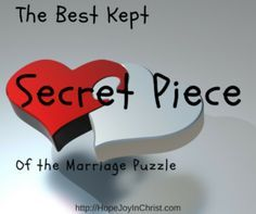 The Best Kept Secret Piece of the Marriage Puzzle