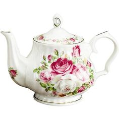 Cottage Rose Bone China Teapot