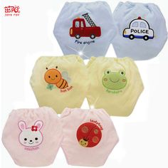 Hot High Quality Baby Diapers/Nappies Cloth Diaper/Nappy Toddler Girls Boys waterproof cotton potty training pants 4 layers 8PCS