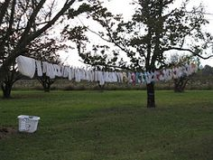 #14 Must Have: **~SUNSHINE AND A CLOTHESLINE!~**. These are at the top of my list! Not only does the sunshine help breakdown stains on the diapers, it helps on our electricity bill as well! Drying the diapers on the clothesline is great. The sun leaves them smelling good…plus you get the 'warm and fuzzies' from seeing all of your cool cloth diapers laid out in a row!  #clothdiapers #nopins