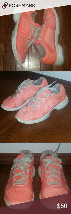 Adidas by Stella McCartney boost barricade Adidas by Stella McCartney boost barricade tennis shoes size 6.5 youth equivalent to 8 + women's great condition no rips stains or tears Adidas by Stella McCartney Shoes Athletic Shoes
