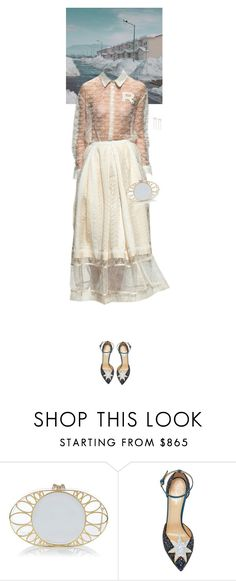 """""""Untitled #3047"""" by wizmurphy ❤ liked on Polyvore featuring Rochas, Charlotte Olympia, Banana Republic and rochas"""