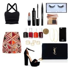 """""""Friday night"""" by leafashionpro on Polyvore featuring mode, Topshop, Boohoo, Yves Saint Laurent, Givenchy, Lana, Huda Beauty, Bobbi Brown Cosmetics, Trish McEvoy et Marc Jacobs"""