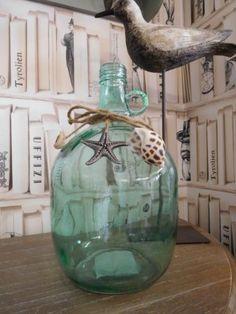 Shabby-Chic-Nautica-Estilo-Vintage-Botella-Vidrio-Decorativo-Decoracion-De-Casa-De-Playa-Mar