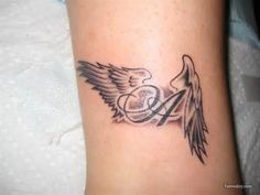 Small Angel Tattoos For Women - Bing Images The wings would need to be more flow and with a J.