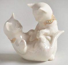 Kittens Playing, Carousel, Porcelain, China, Entertaining, Sculpture, Statue, Jewels, Porcelain Ceramics