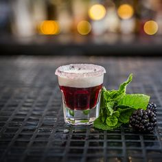 BLACKBERRY DOUGHNUT 75ml Blackberry Mead 25ml Double Cream Dip a shot glass in Blackberry Jam then Castor Sugar Pour in chilled Blackberry Mead Float the double cream on top of the Mead by pouring on the back of a teaspoon…… and down in one!