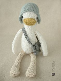 The Messenger Duck by eveluche, via Flickr. I think a children's story should be developed for this little softie.