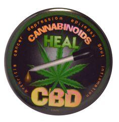 Amazon.com: CBD Cannabinoids Heal on Mylar Keychain and Magnet: Clothing $9.85 & FREE Shipping