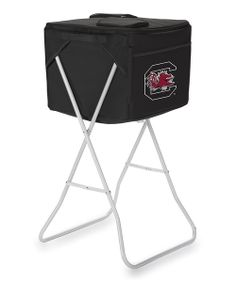 Showcasing team pride is completely convenient with the use of this ingenious party cube that bears the logo of the best college team around. This portable soft-sided cooler comes with a water-resistant interior divider to keep food and beverages separate and a collapsible stand for mobility. It even has a slot for a standard-size umbrella!Includes cooler, removable divider and removable st...