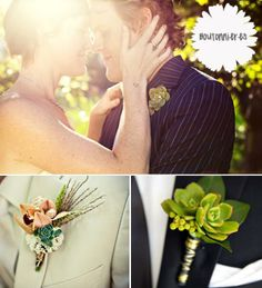 Succulent Plants At Your Wedding, Boutonnieres