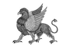 Griffin Art Print Mythical Creature by MenisArt on Etsy
