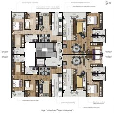 Resultado de imagem para planta baixa pavimento tipo 4 apartamentos