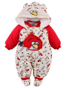 Angry Bird Print Cotton One Piece Clothes For Baby