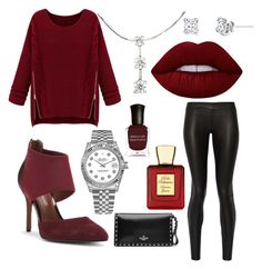 """""""Yeah Baby!!!!!!"""" by michaelmartin714 on Polyvore featuring WithChic, The Row, Donald J Pliner, Harry Kotlar, Rolex, Lime Crime, Valentino, Bella Bellissima and Deborah Lippmann"""