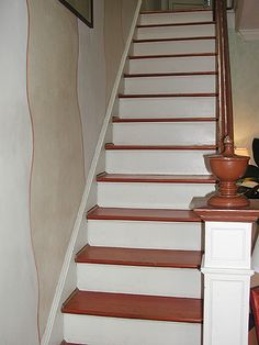 14 best hardwood stair treads images hardwood stair - Interior stair treads and risers ...