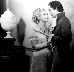 """Madeleine Carroll and Tyrone Power in """"Lloyds of London."""""""