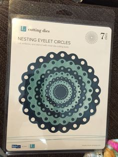 Lifestyle Crafts Nesting Eyelet Circles Cut and Embossing Dies | eBay
