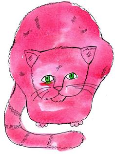 Andy Warhol American 1928-1987, Pink Sam with Green Eyes