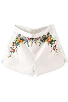 All-matching Floral Shorts