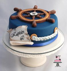 Cake for a sea captain. Surprise Grooms cake for Chuckis? Nautical Birthday Cakes, Nautical Cake, Adult Birthday Cakes, Themed Birthday Cakes, Birthday Cake For Man, Men Birthday, Birthday Cake Ideas For Adults Men, Beach Themed Cakes, Birthday Sayings