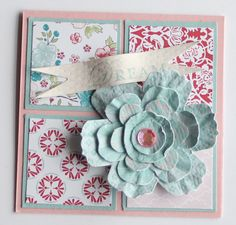 Great Stampin'Up! card using the new blossom punch