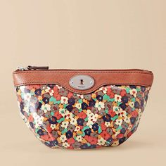 Fossil Key-Per Wedge Cosmetic, love the small floral print