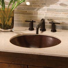 Sink Finish Antique Copper Oval Classic Bathroomsimple Bathroomundermount Bathroom