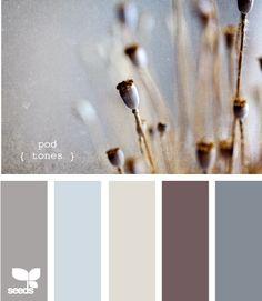 Living room color inspiration. pod tones