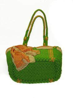 Macrame verde bolsa hechos a mano bolso monedero por BagsMagicKnots
