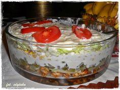 Warstwowa sałatka gyros Polish Recipes, Polish Food, Salads, Pudding, Cooking, Desserts, Kitchen, Tailgate Desserts, Deserts