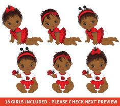 Baby Girl Clipart, Baby Shower Clipart, Baby Shower Printables, Emoji Clipart, Ladybug Girl, Owl Clip Art, Girls Clips, American Baby, Topper