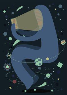 animation, galaxy in life