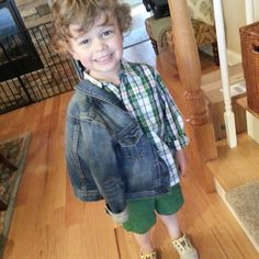 #toddlerstyle over from instagram Plaid and Denim