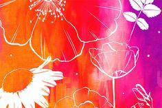 neon krisatomic flowers
