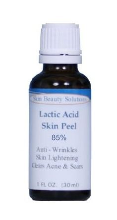 I do this once every two weeks--Great stuff!   LACTIC Acid 85% Skin Chemical Peel- Alpha Hydroxy (AHA) For Acne, Skin Brightening, Wrinkles, Dry Skin, Age Spots, Uneven Skin Tone, Melasma & More (from Skin Beauty Solutions)