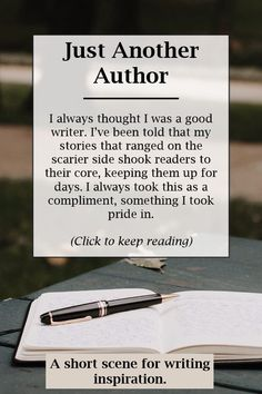 I promise, this isn't narcissism, it's just the beginning of the story. So, if you need a little writing inspiration in the form of a scene writing prompt, then check out this short scene. Happy writing!