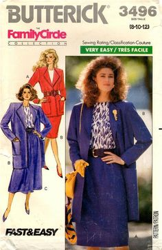 f7f709611eda02 Butterick Sewing Pattern # 3496 Misses Dress in 2 Lengths Size 6-8-10-12  for sale online | eBay