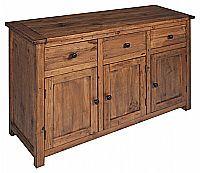 Balcão, madeira maciça, acabamento envelhecido, verniz acetinado DN